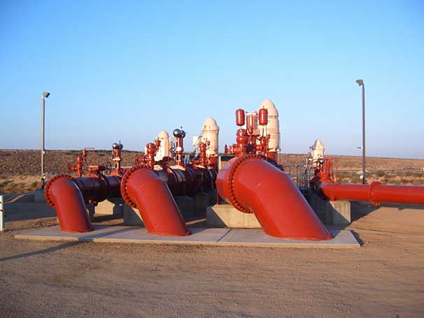 Tilting Disc Check Valve being used at a raw water pumping station in Bakersfield, CA